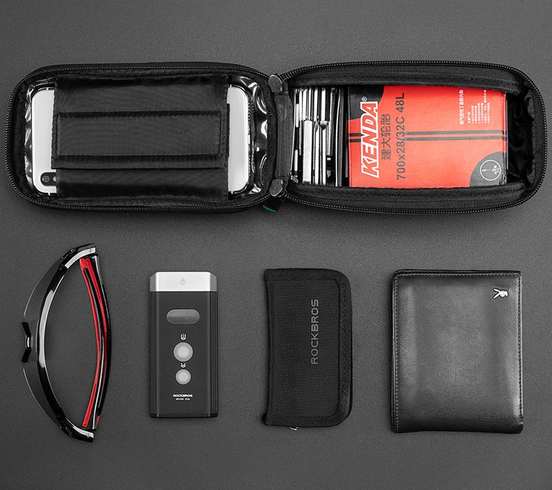 Bolso de Quadro com Porta Celular RockBros - 017-2BK  - MAB AIRSOFT