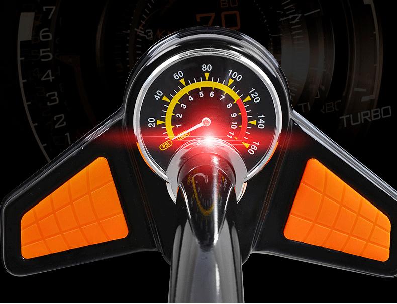 Bomba de pneu para bicicleta Rockbros - GP6532B  - MAB AIRSOFT