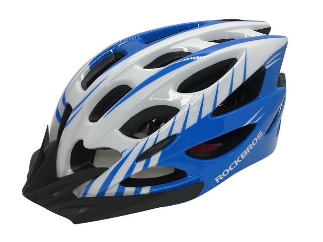 Capacete Bike Rockbros Azul / Branco MTB-Speed  - MAB AIRSOFT