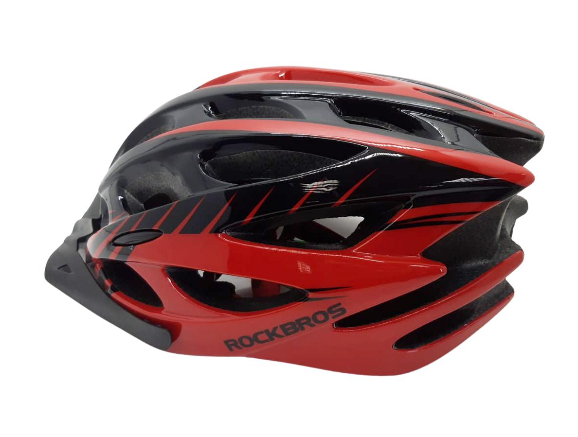 Capacete Bike Rockbros Vermelho / Preto MTB-Speed