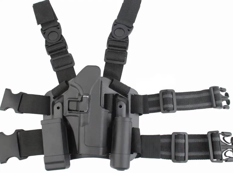 Coldre de Perna Blackhawk em Polímero - Mod. Glock  - MAB AIRSOFT