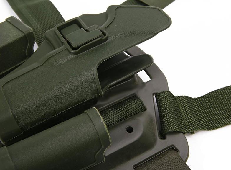 Coldre de Perna Blackhawk em Polímero - Mod. Glock - Verde  - MAB AIRSOFT