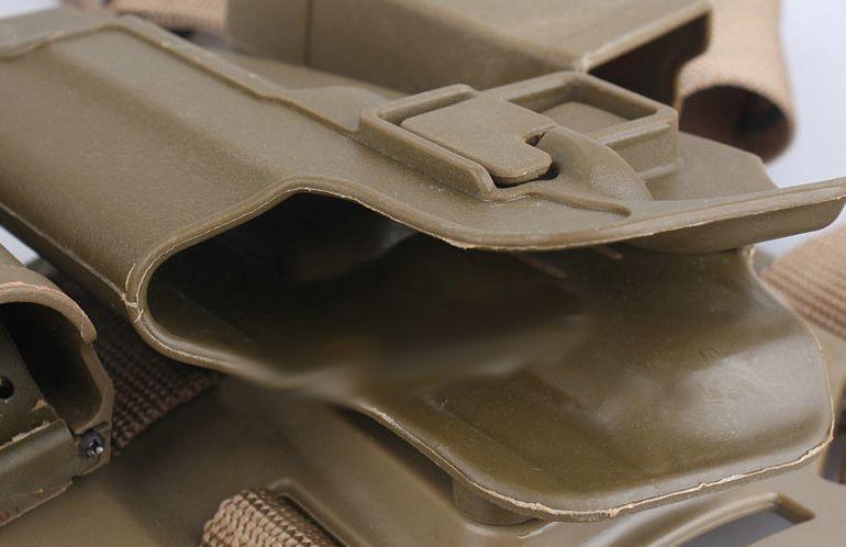 Coldre de Perna Blackhawk em Polímero - Mod. M9 TAN  - MAB AIRSOFT