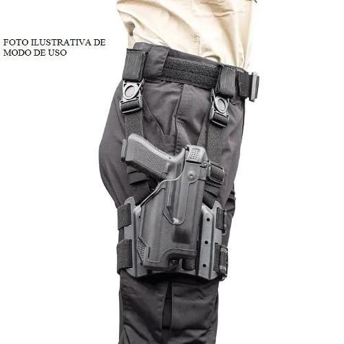 Coldre de Perna Blackhawk em Polímero - Mod. P226  - MAB AIRSOFT