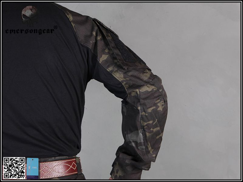 Combat Shirt EMERSON GEAR - Multicam Black Tam:M  - MAB AIRSOFT