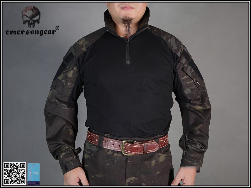 Combat Shirt EMERSON GEAR - Multicam Black Tam XL  - MAB AIRSOFT