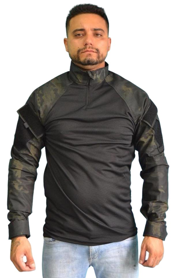 Combat Shirt - MULTICAM BLACK (Tam. GG) ART MILITAR  - MAB AIRSOFT