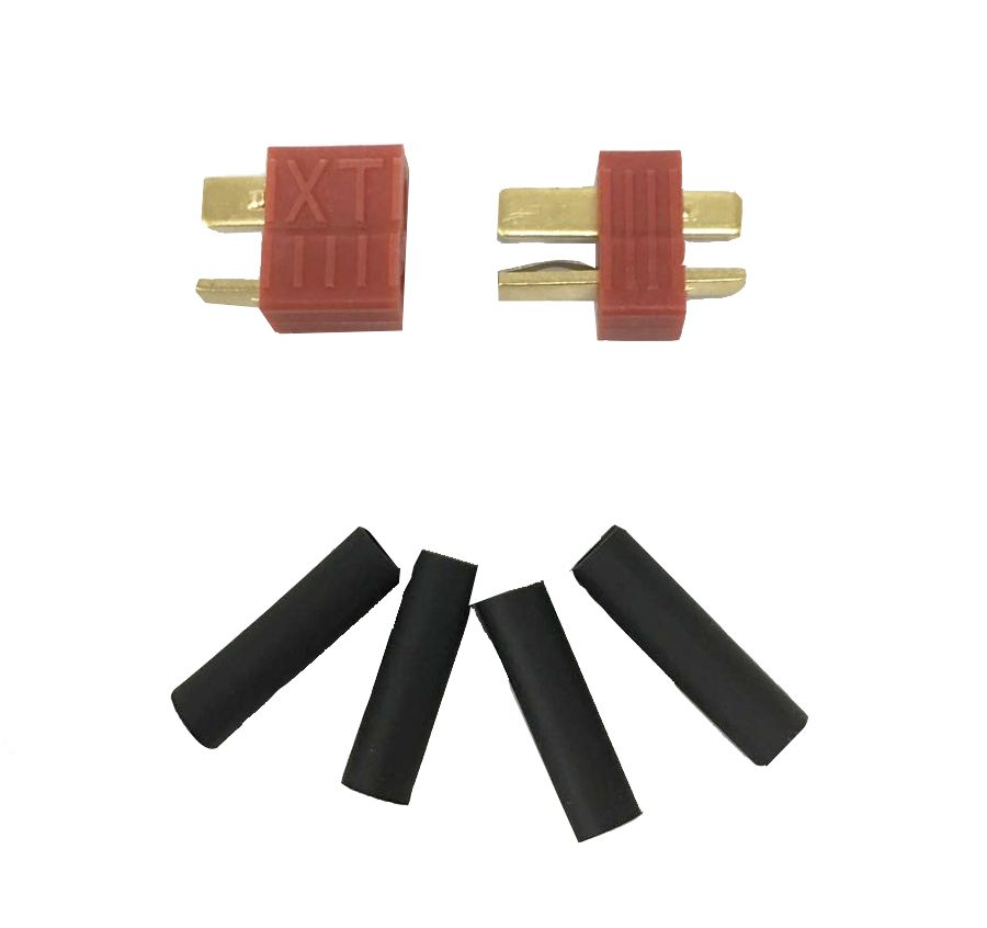 Conector Plug Deans + Tubo Termo Retrátil  - MAB AIRSOFT