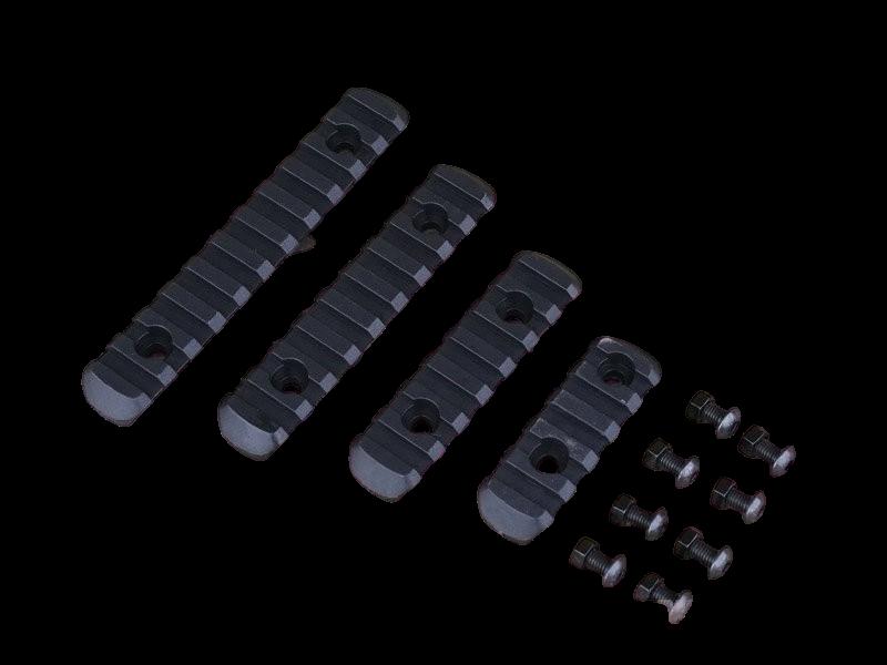 Conjunto de Trilho 20 mm em Polimero - Cor: Preto