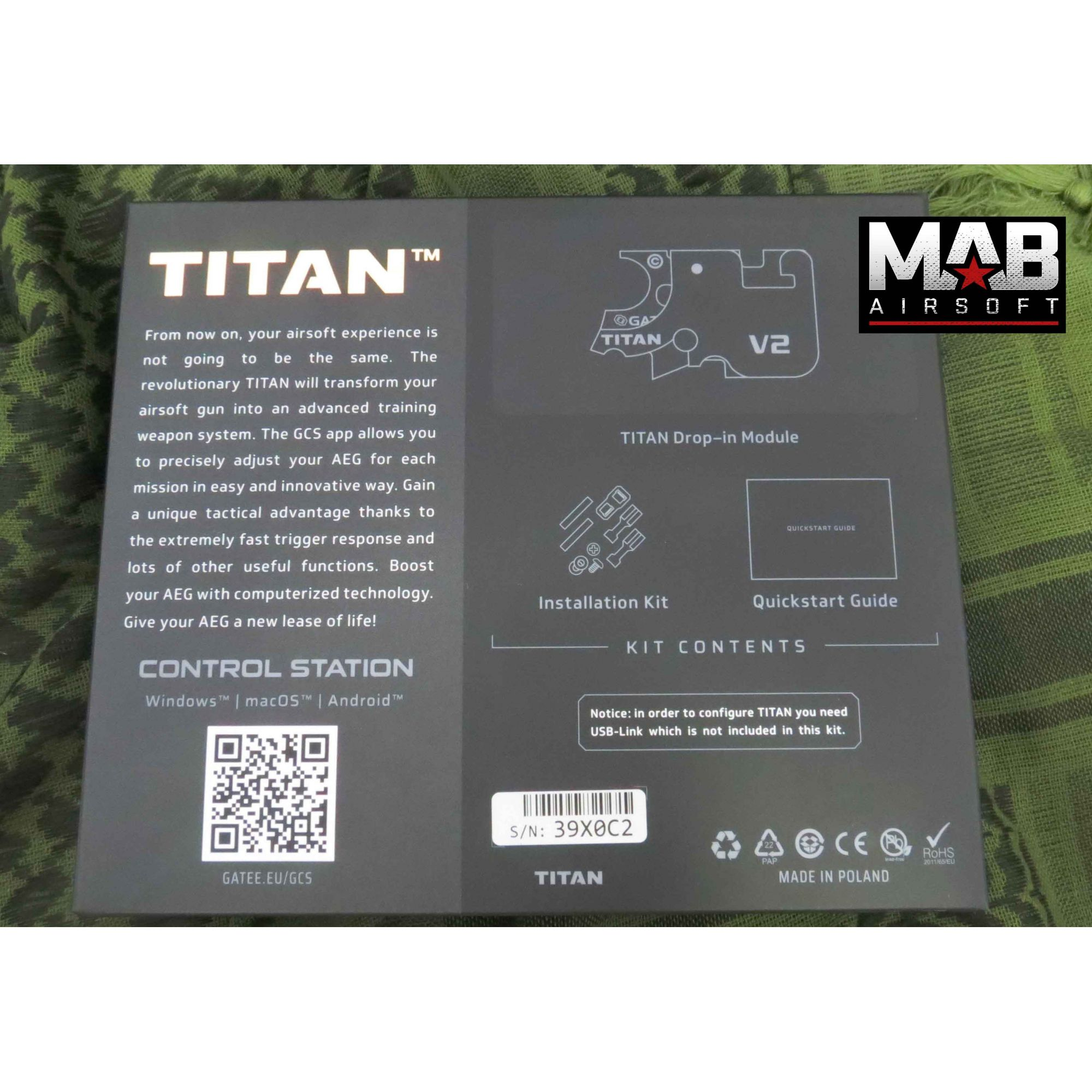 Gatilho TITAN Gate V2 - FRONT WIRED / FIO P/ FRENTE Module Basic  - MAB AIRSOFT