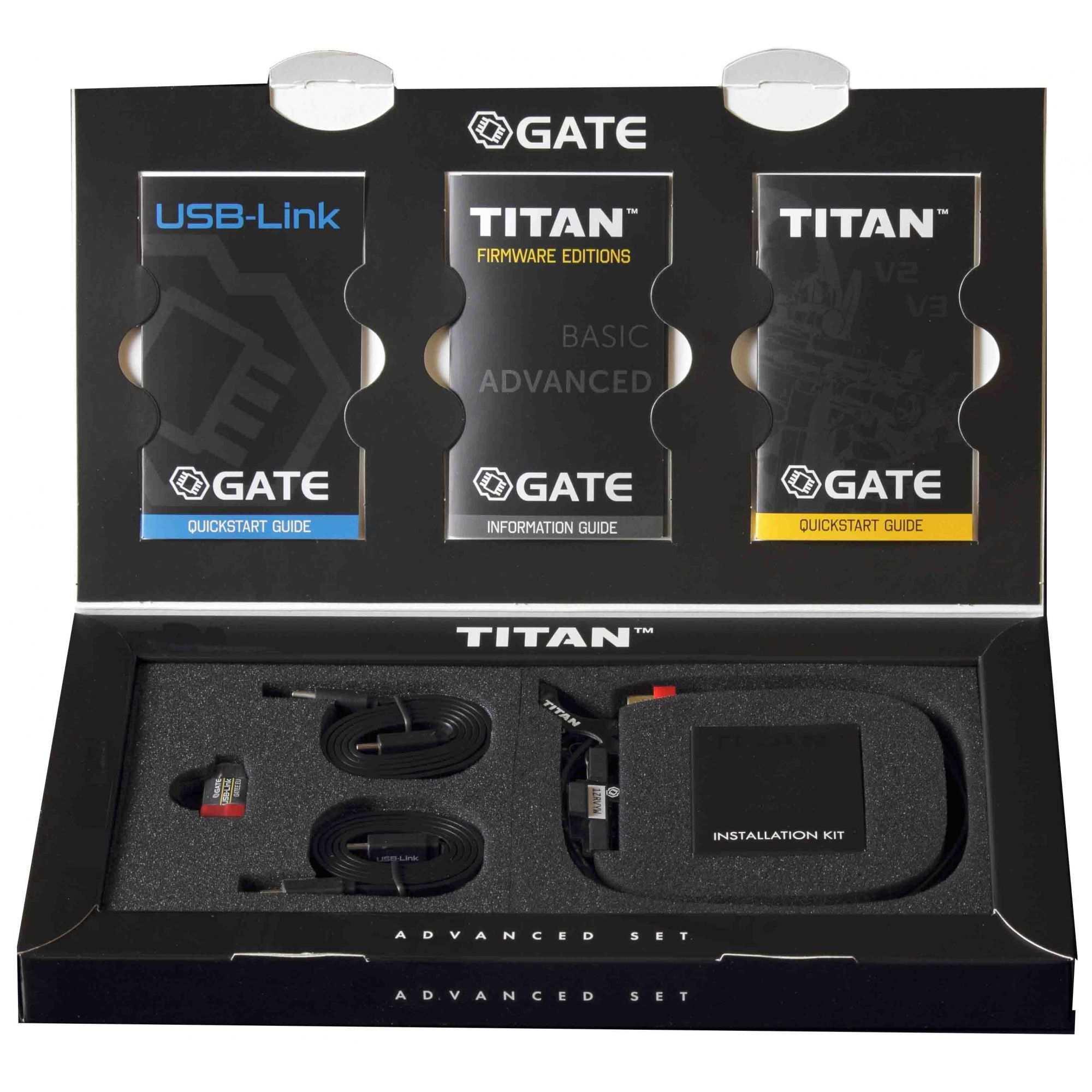 Gatilho TITAN Gate V2 - REAR WIRED / FIO P/ TRÁS Advanced Set  - MAB AIRSOFT