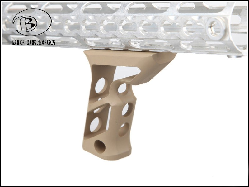 Grip Vertical em Aluminio Keymod - Cor:TAN  - MAB AIRSOFT
