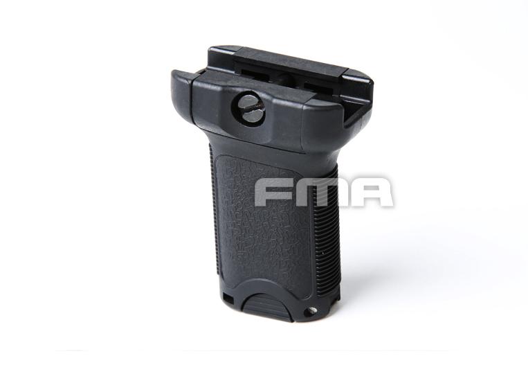 Grip Vertical FMA com porta bateria - Preto  - MAB AIRSOFT
