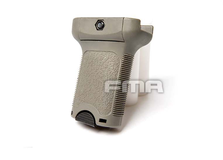 Grip Vertical FMA com porta bateria - TAN  - MAB AIRSOFT
