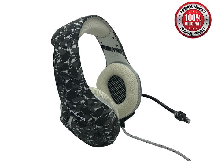 K1B camo grey - Fone de ouvido gamer com microfone  - MAB AIRSOFT