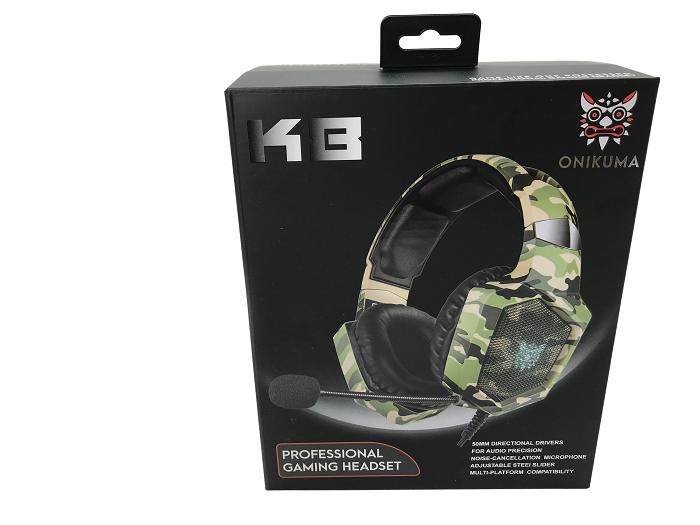 K8 camo green RGB - Fone de ouvido gamer com microfone  - MAB AIRSOFT