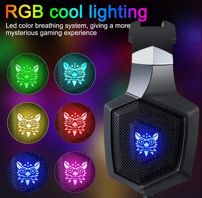 K8 camo white RGB - Fone de ouvido gamer com microfone  - MAB AIRSOFT