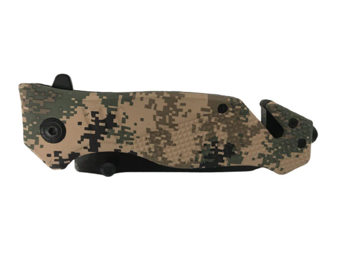 Kit Canivete Tático SWAT + Canivete Digital Urbano TAN - Quebra Vidro e Corta Cinto  - MAB AIRSOFT