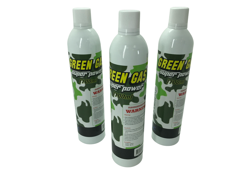 Kit com 3 GREEN GÁS SUPER POWER SRC 1100ML  - MAB AIRSOFT
