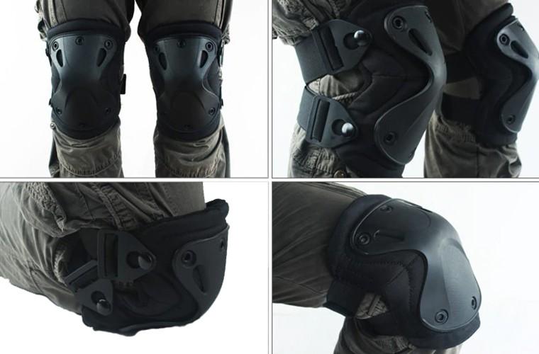 Kit Joelheira E Cotoveleira Tática X-Tak 9mm - Preto  - MAB AIRSOFT