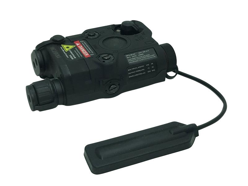 Lanterna AN-PEQ 15 FMA Black (Laser Vermelho)  - MAB AIRSOFT