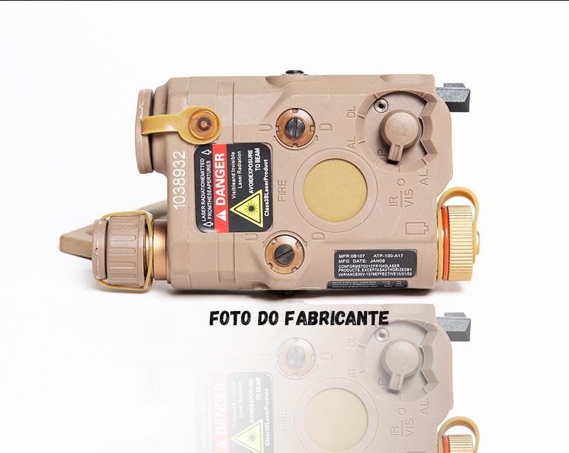 Lanterna AN-PEQ 15 FMA TAN (Laser Vermelho)  - MAB AIRSOFT