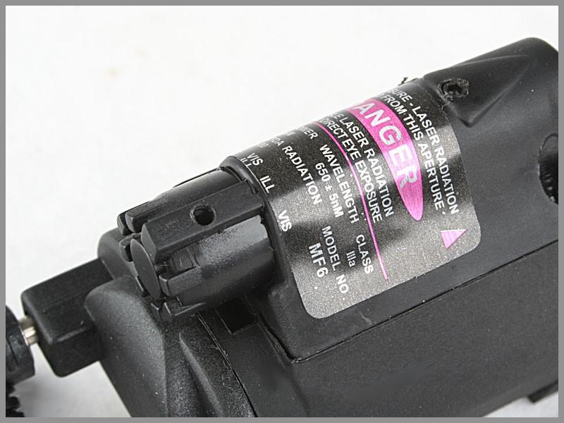 Lanterna para Pistola c/ Laser (c Rabicho)  - MAB AIRSOFT