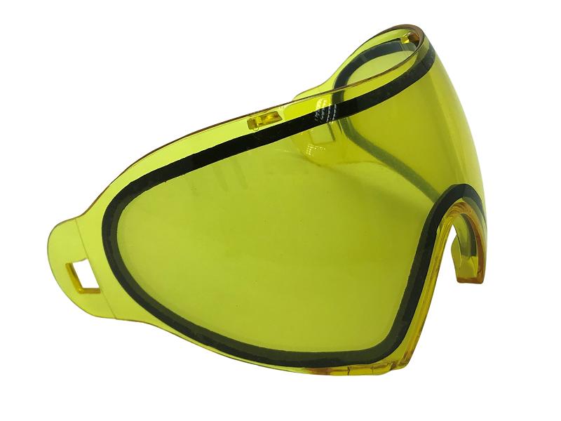 Lente dupla Thermal ante embaçante amarela para Máscara FMA F1  - MAB AIRSOFT