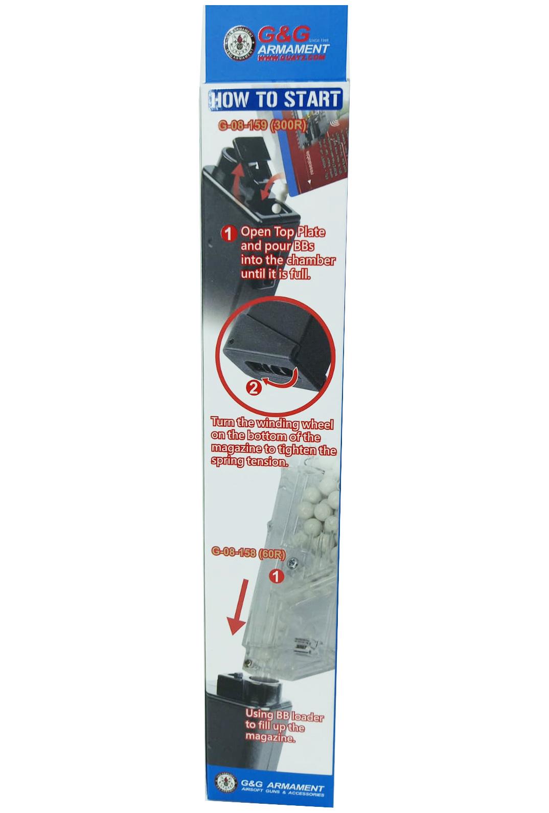 Magazine G&G ARP9 Hi-Cap 300 BBs  - MAB AIRSOFT