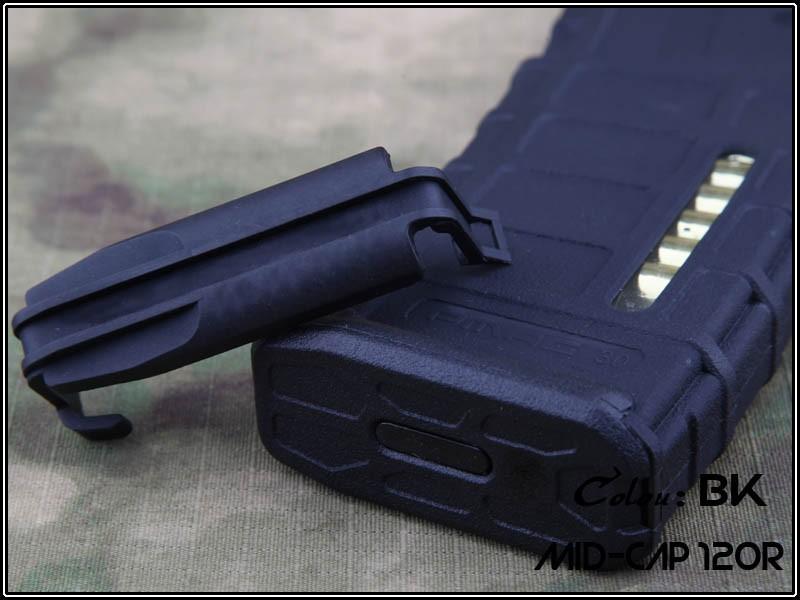Magazine Mid-cap plástico M4/M16 cor: Preta - 80 BBs (munição fake)