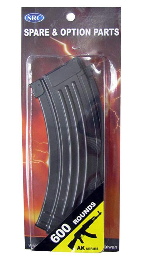 Magazine SRC Hi-cap metal AK - 600 BBs  - MAB AIRSOFT