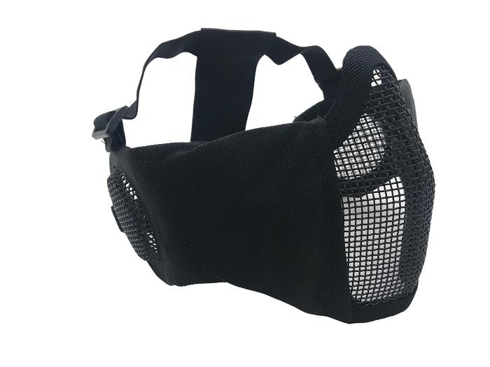 Mascara de Proteção Meia Face Confort com Proteção Orelha - Preta  - MAB AIRSOFT