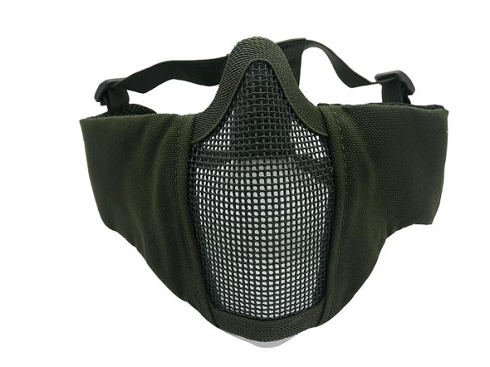 Mascara de Proteção Meia Face Confort com Proteção Orelha - Verde #  - MAB AIRSOFT