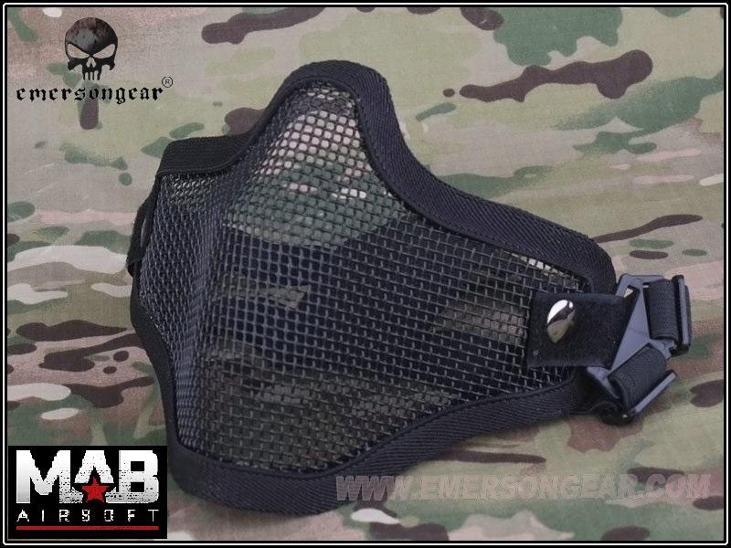 Mascara Proteção (boca/nariz)  - Cor: Preta  - MAB AIRSOFT