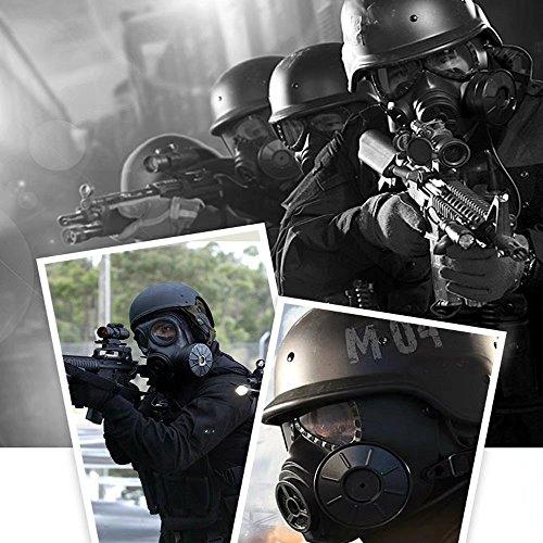 Mascara Proteção Gas Mask - Preta  - MAB AIRSOFT