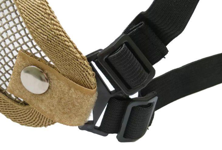 Meia Máscara de Proteção c/ Tela Metálica (Boca/Nariz) - Cor TAN  - MAB AIRSOFT