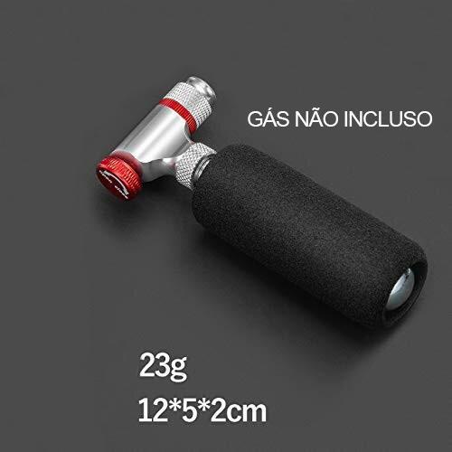 Mini Bomba Infladora de Pneu CO2 - 16 g - Rockbros RB-CO2  - MAB AIRSOFT