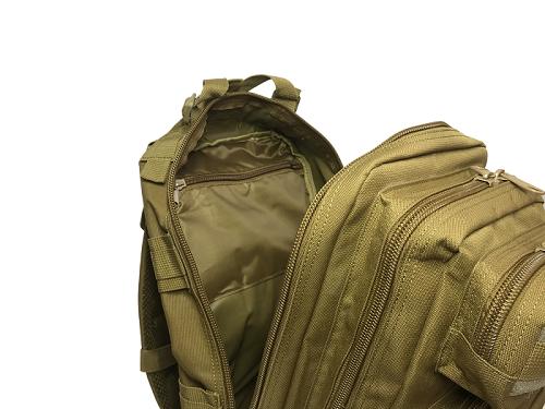 Mochila Tática Militar WSH Sistema MOLLE capacidade 30 L - Cor: TAM + Camiseta Magpul Preta  - MAB AIRSOFT
