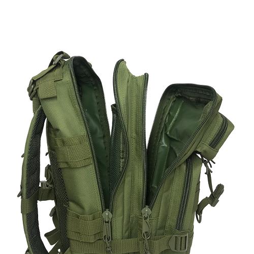 Mochila Tática Militar WSH Sistema MOLLE capacidade 30 L - Cor: Verde + Camiseta I Love Guns & Titties TAN  - MAB AIRSOFT