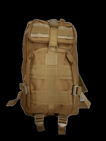 Mochila Tatica Militar WSH Sistema MOLLE Cordura 600D capacidade 30 L - Cor: TAN  - MAB AIRSOFT
