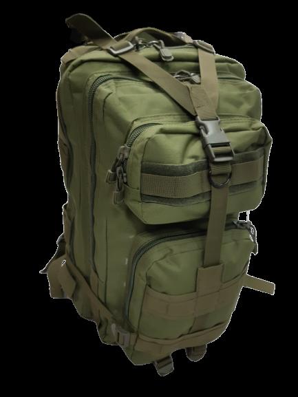 Mochila Tatica Militar WSH Sistema MOLLE Cordura 600D capacidade 45 L - Cor: Verde