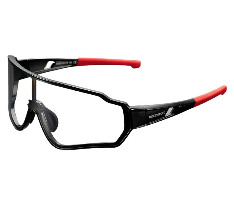 Óculos Bicicleta Foto cromático Rockbros RB-10161 (Preto/Vermelho)