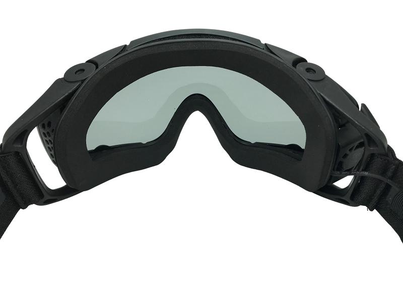Óculos de Proteção FMA - TB886 com Cooler Black  - MAB AIRSOFT