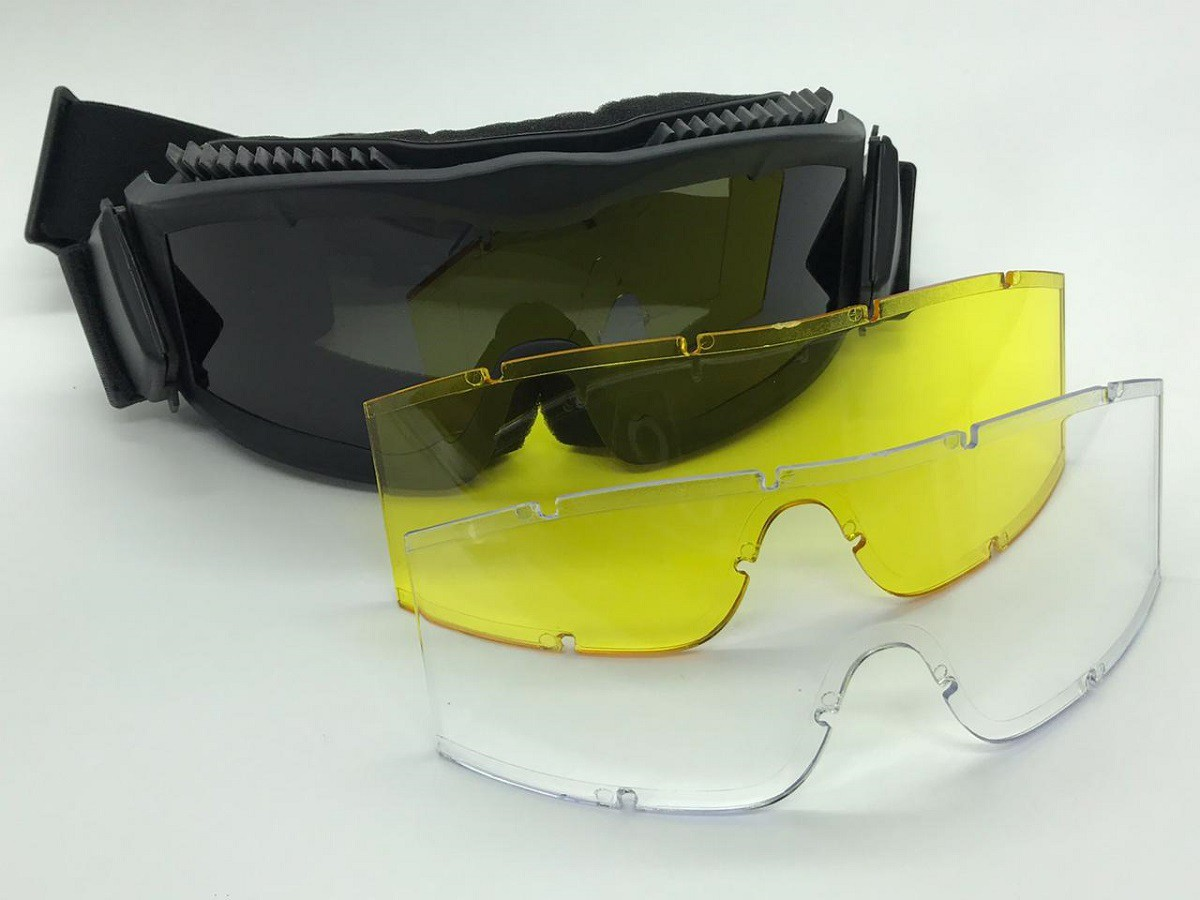 Óculos / Goggle Anti-Fogging 3 lentes - Cor: Preta #  - MAB AIRSOFT
