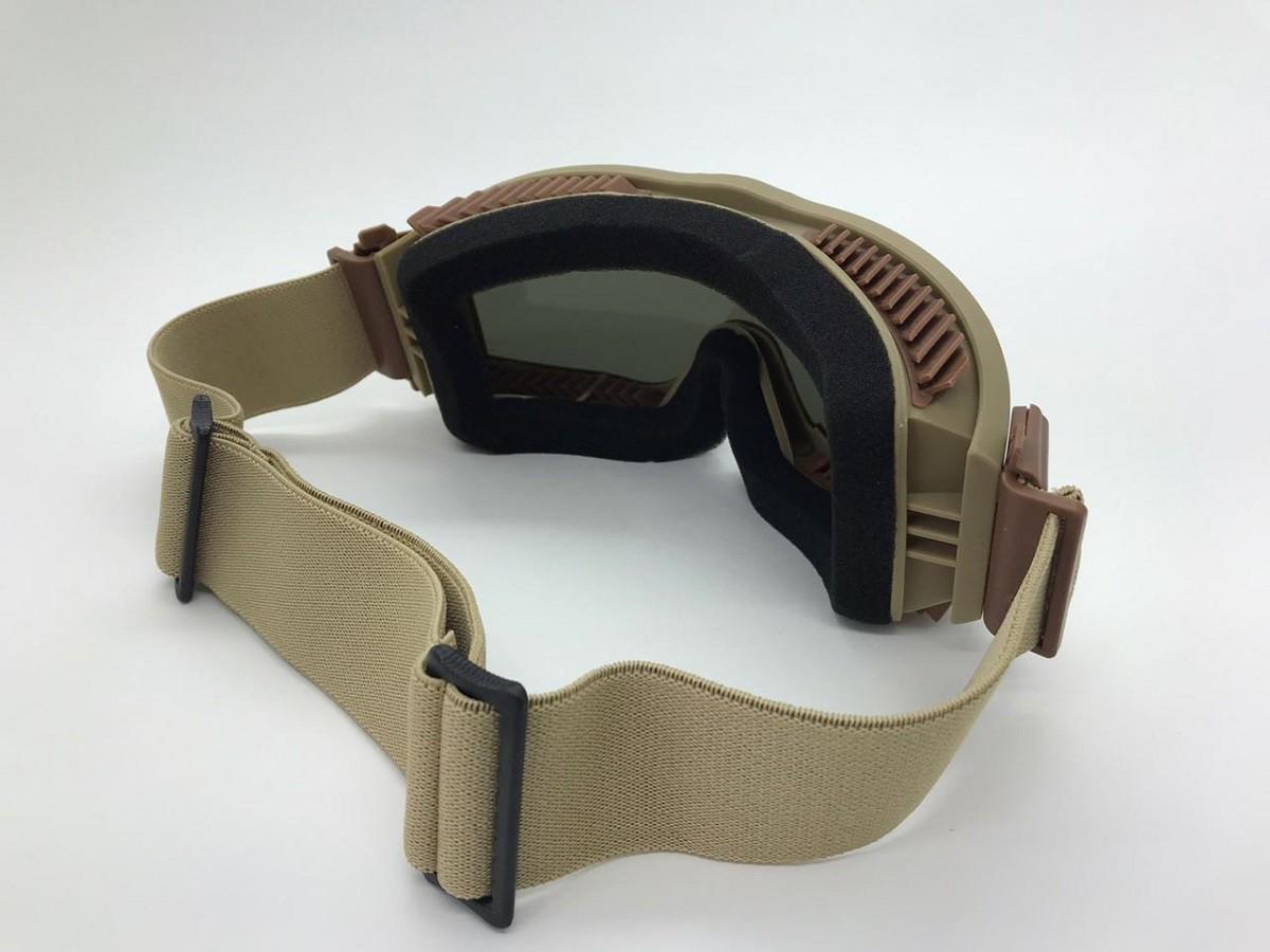 Óculos / Goggle Anti-Fogging 3 lentes - Cor: TAN #  - MAB AIRSOFT