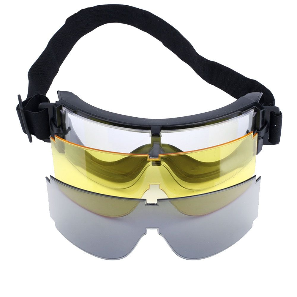 Óculos Tático - Goggle X800 com 3 lentes  - MAB AIRSOFT