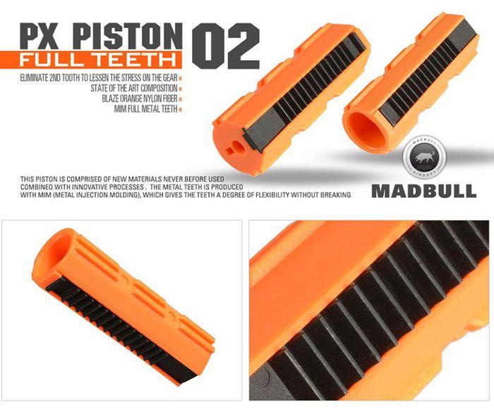 Pistão Madbul 14 dentes PX Piston 02  - MAB AIRSOFT