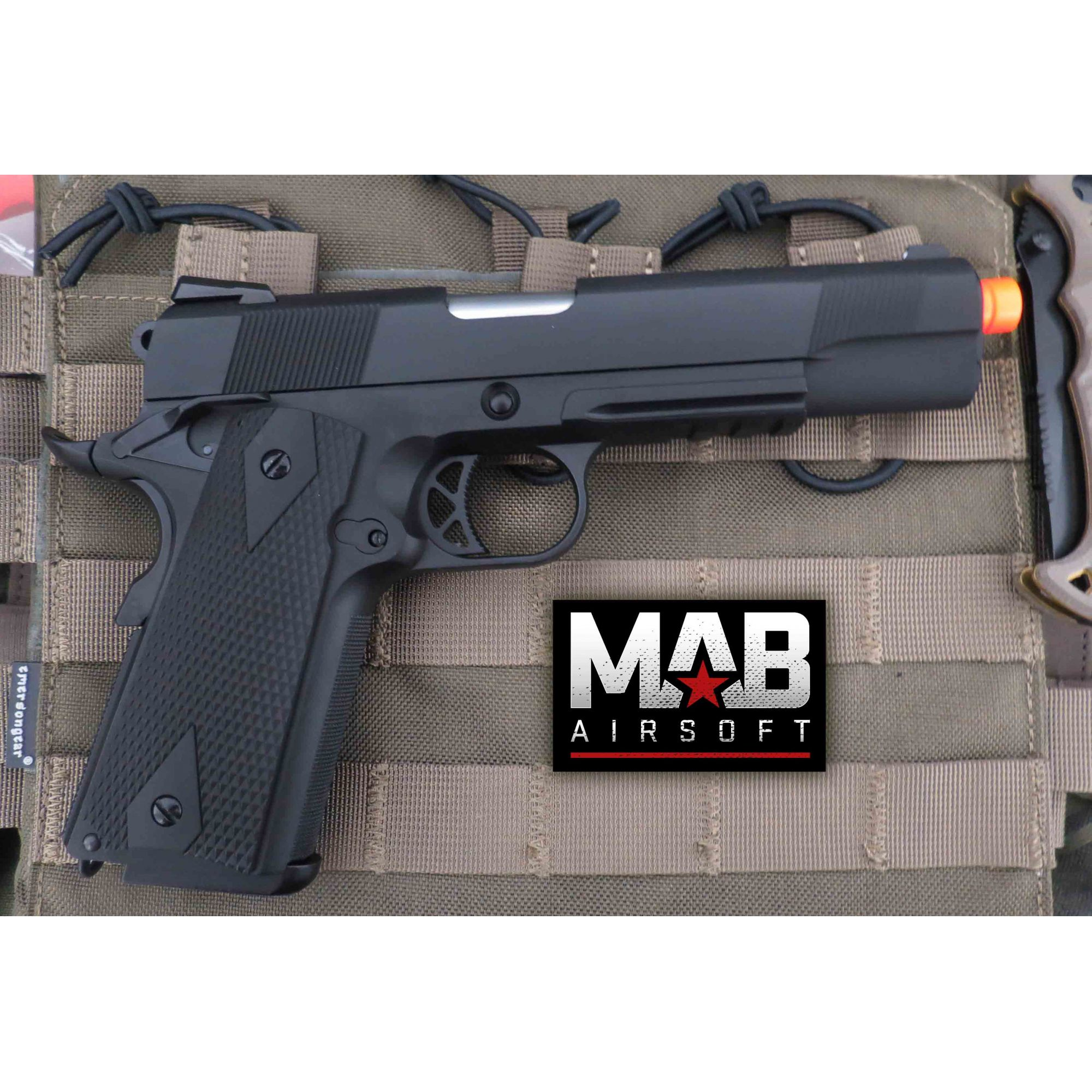 Pistola Airsoft WE 1911 Gen. 2 GBB Full Metal Preta - Calibre 6 mm  - MAB AIRSOFT