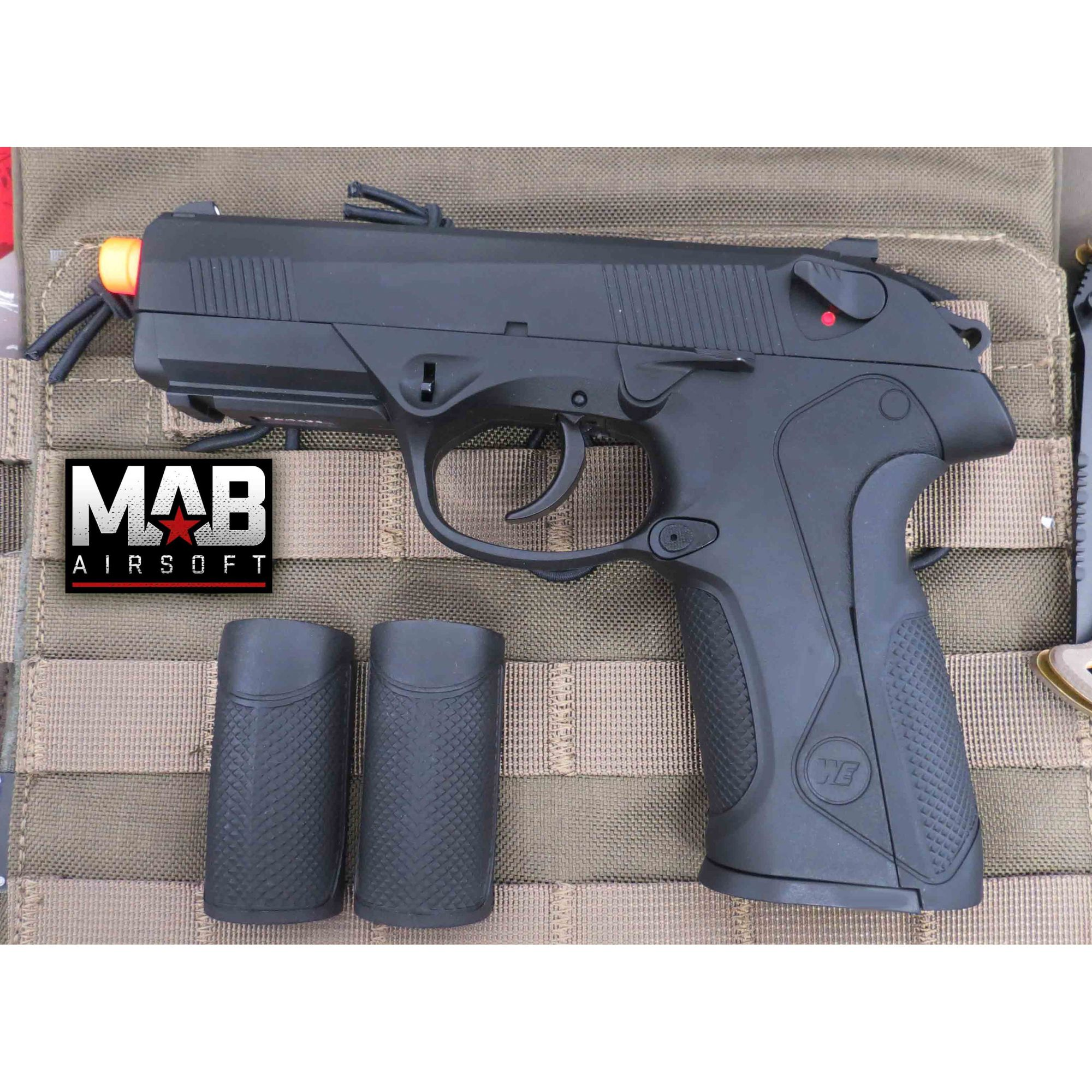 Pistola Airsoft WE Bulldog PX4 GBB Full Metal Preta - Calibre 6 mm