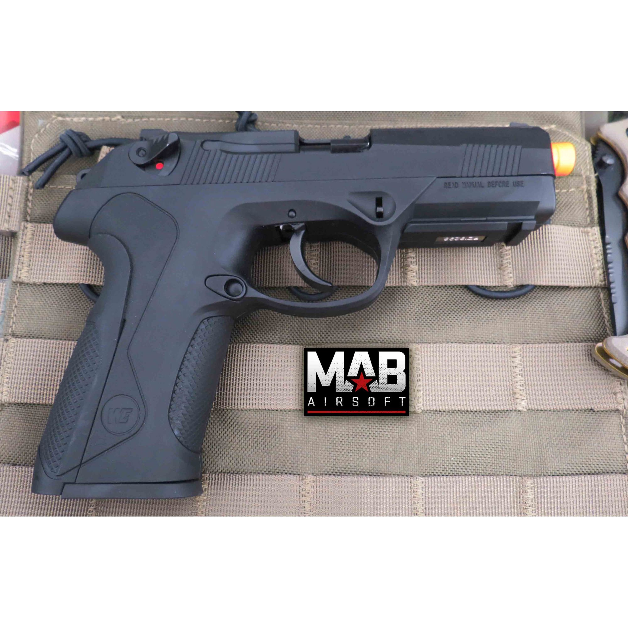 Pistola Airsoft WE Bulldog PX4 GBB Full Metal Preta - Calibre 6 mm  - MAB AIRSOFT